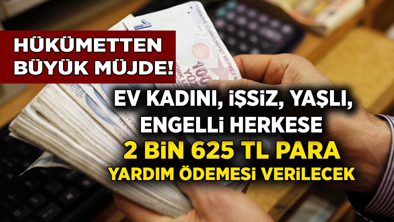 Müjde PTT'den Herkese 2 bin 625 TL yardım ödemesi yapılacak! Ev kadını, işsiz, yaşlı, engelli herkese para yardım verilecek! Hemen başvuru yapın...