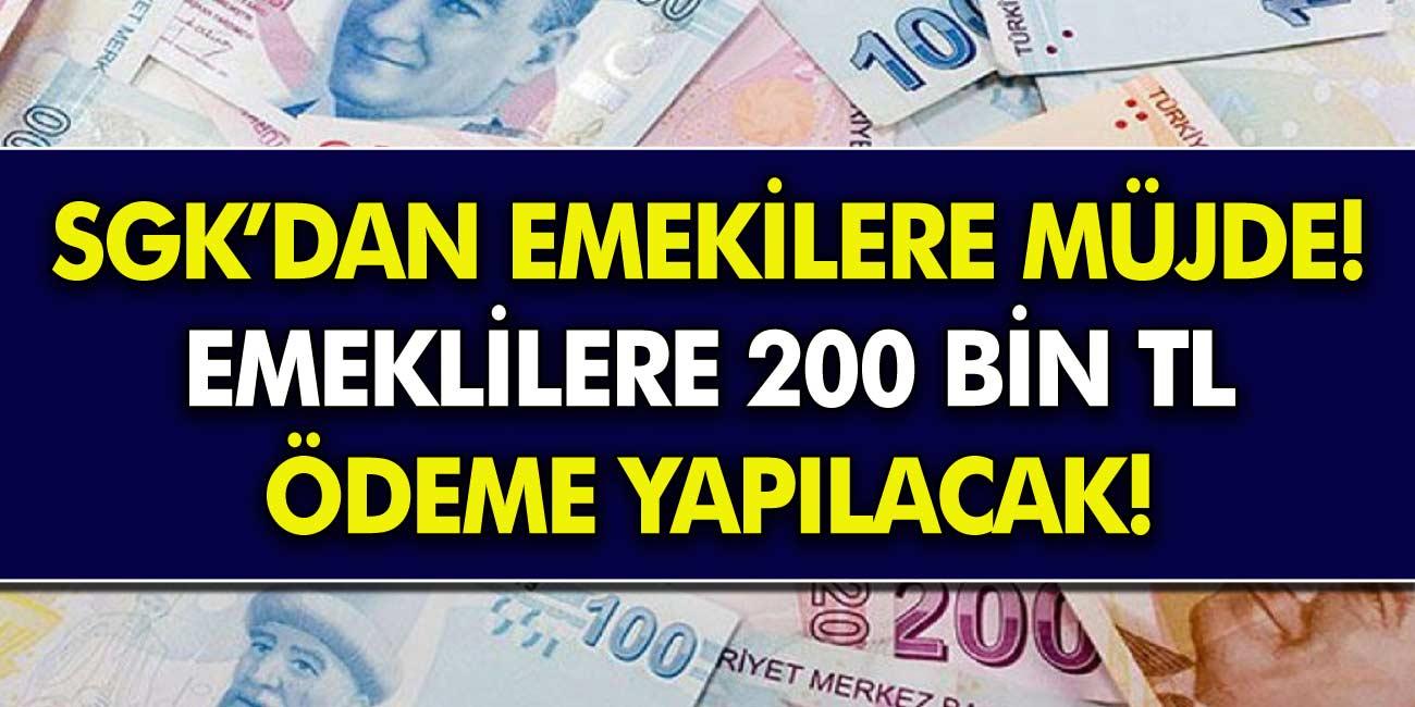 SGK Müjdeledi! SGK, SSK ve Bağkur'lu Emeklilere Ödeme Yapılacak!