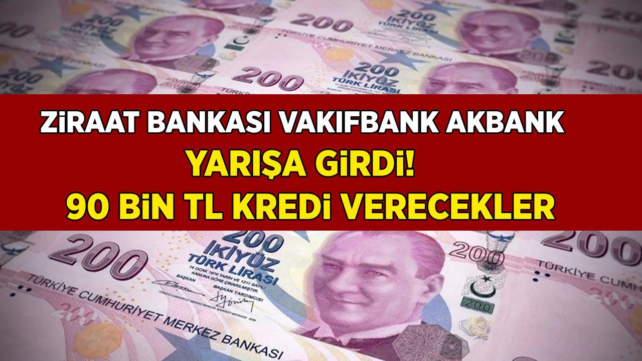 Son Dakika Haberi: Halkbank, Vakıfbank Halkbank ve Ziraat Bankası 24 Ay Vadeli 90.000 TL Kredi Veriyor...