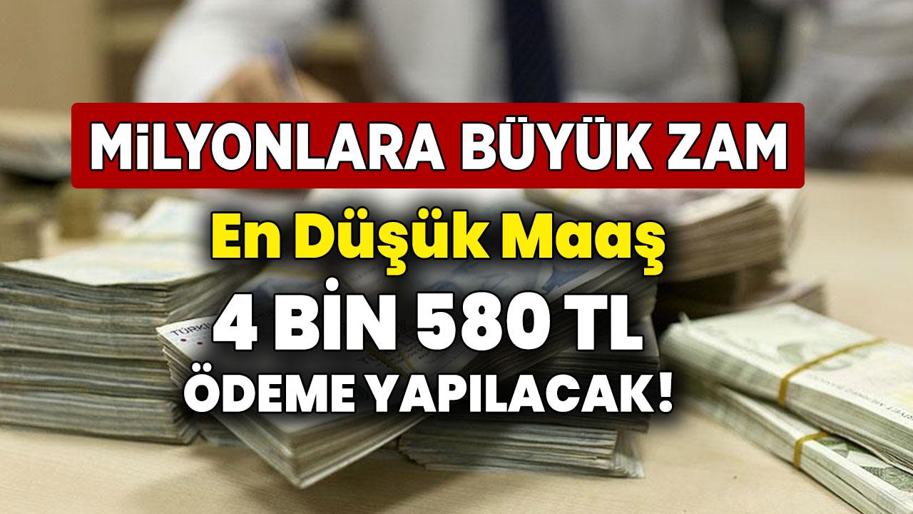 4 Bin 580 TL en düşük maaş olacak! Memur ve memur emeklisinin beklediği zam oranları netleşti...