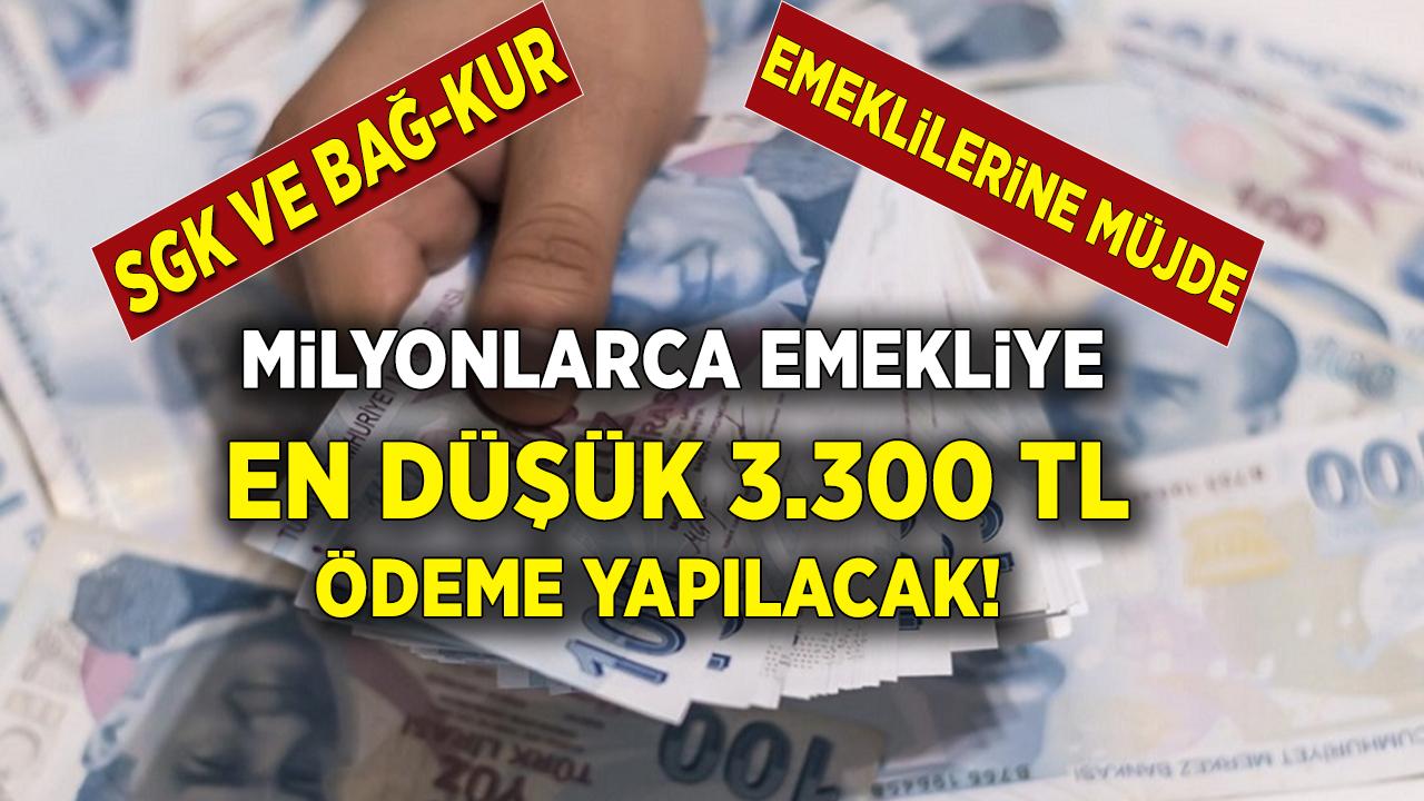 SGK, SSK Bağ-Kur emeklilerine 3 Bin 300 TL Ödeme Müjdesi Geldi! Başvuru yapan emekli anında ödeme alacak...
