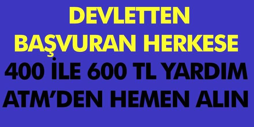 Başvurana Devletten Yardım Fırsatı! 300, 400 Ve 600 TL Para Yardımını PTT Ve ATM Veriyor!