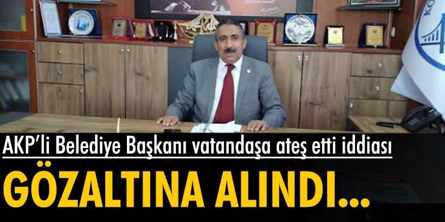 Köprülü Belediye Başkanı Yücel Akkoç vatandaşa ateş etti iddiası gündeme bomba gibi düştü!