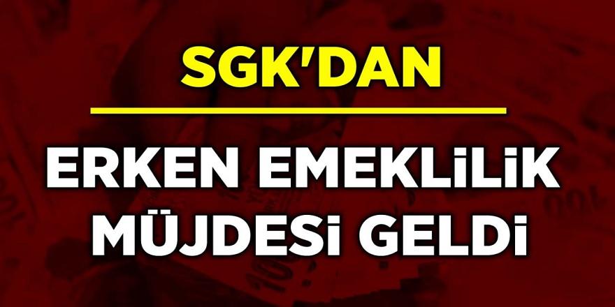 SGK'dan 5 Milyon kişiye Erken Emeklilik Müjdesi Geldi! Erken Emeklilik Şartları Belli Oldu! kimler erken emekli olabilir...