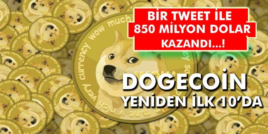 Kripto Para Dogecoin Yeniden İlk 10'da Yer Aldı! Elon Musk Bir Tweet İle 850 Milyon Dolar Kazandı!