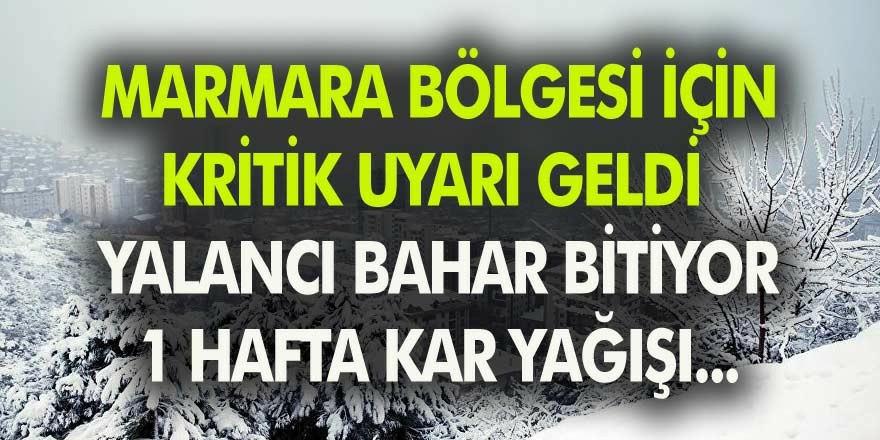 İstanbul İçin Meteoroloji Uyardı! Kar Geliyor! İşte Kritik Uyarının Detayları…
