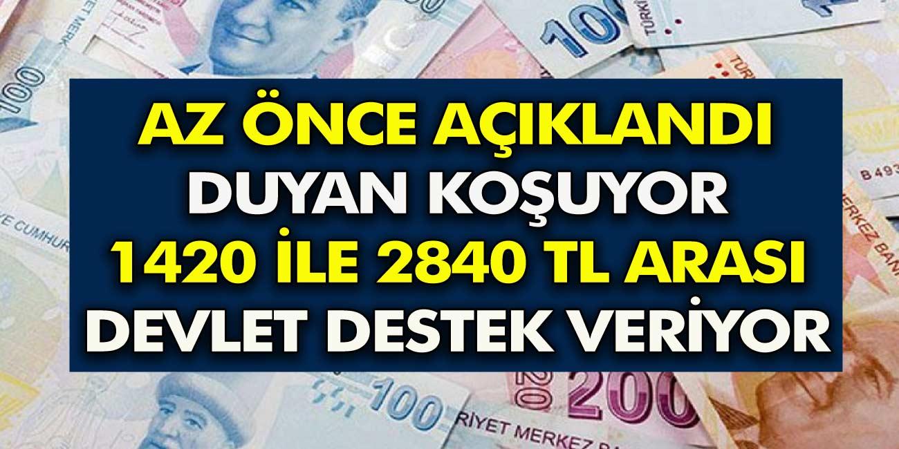 Büyük müjde verildi! Hızır Gibi Yetişti Duyan Koşuyor En düşük 1.420 lira en yüksek ise aylık 2.840 lira maaş verilecek...