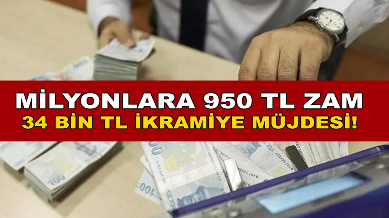 Milyonlara müjde maaşlarına 950 TL zam yapılacak! SGK'dan 34 Bin TL toplu ödeme yapılacak...