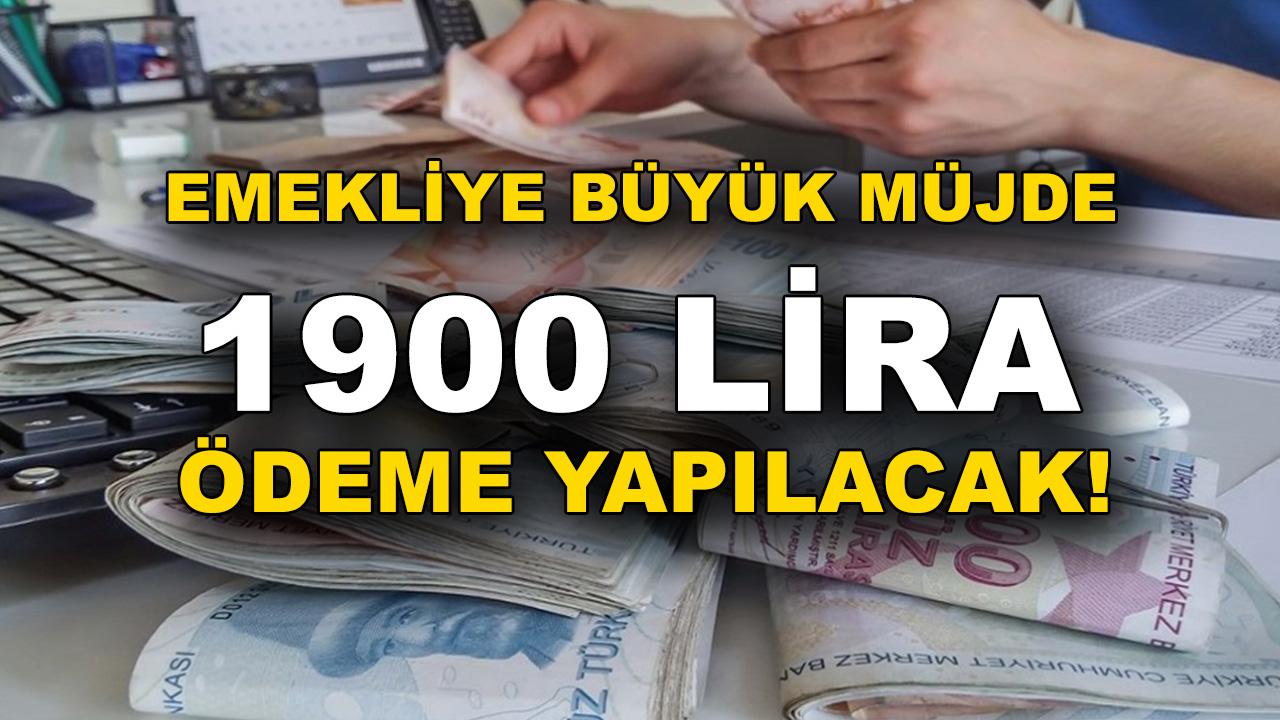 Son Dakika Haberi SGK, SSK ve Bağ-Kur emeklilerine müjde 1.900 TL ödeme yapılacak! hesabınızı kontrol etmeyi Unutmayın...