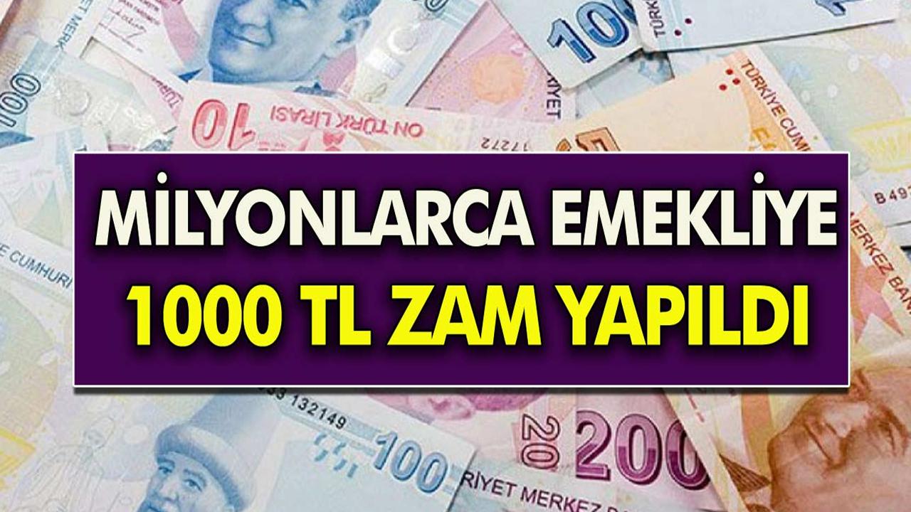 Müjde Emekli maaşlarına 1000 TL zam yapıldı!  Bakan Vedat Bilgin, 3600 ek gösterge hakkında detaylıaçıklama yaptı...