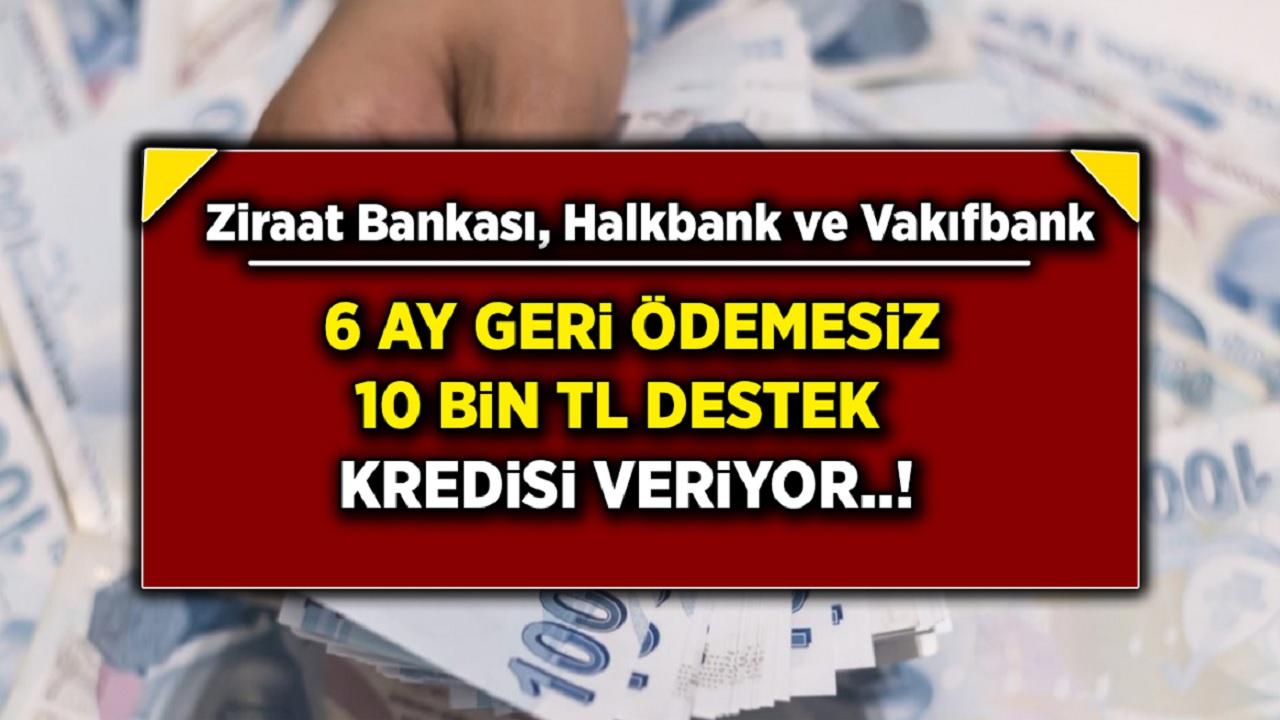 Son Dakika Haberi Gece Yarısı Duyuruldu! Ziraat Bankası, Vakıfbank ve Halkbank, nakit ihtiyaç sahiplerine anında 10 000 TL destek oluyor!