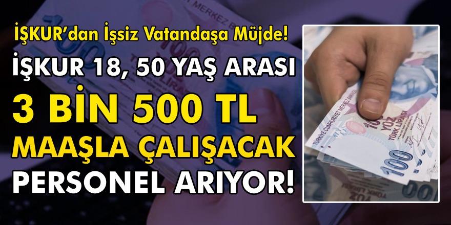 İŞKUR'dan müjde! 18 ve 50 yaşları arasında olanlar 3250 TL maaşla işe girebilecek! Alım yapılacak kadrolar belli oldu…