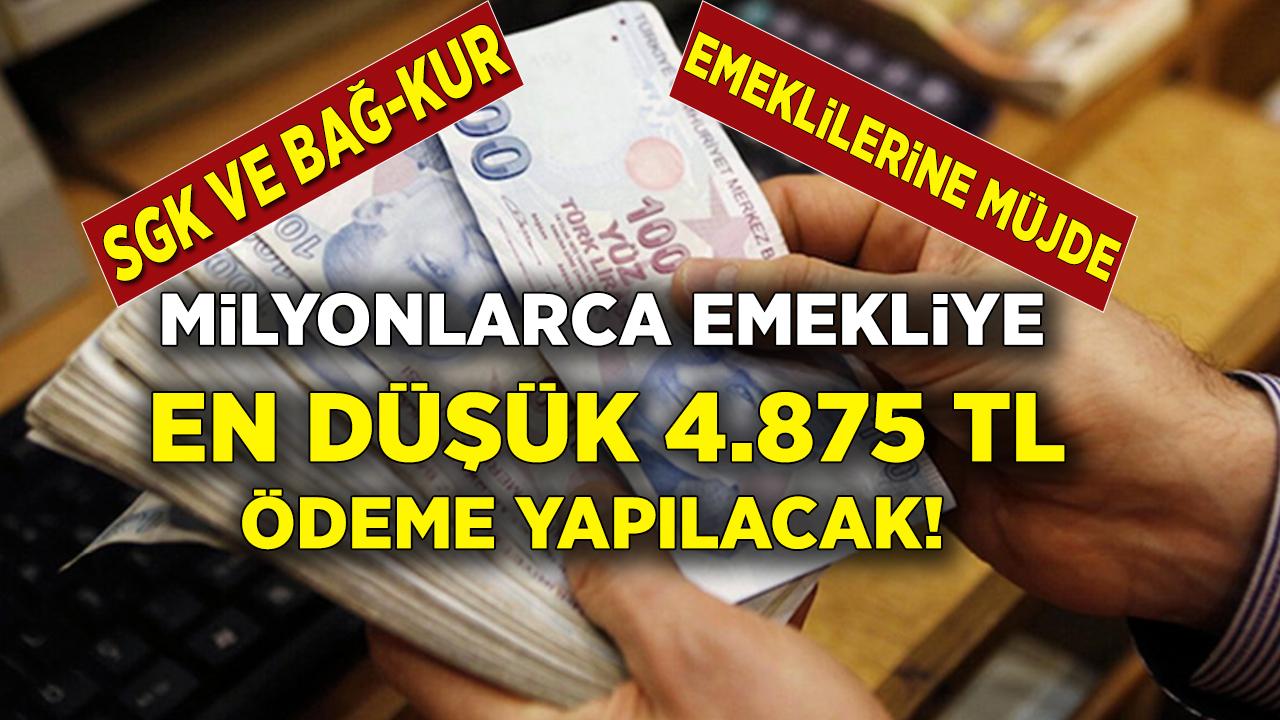Milyonlarca emekliye 4.875 TL toplu ödeme müjdesi geldi! SGK'dan başvuran bütün emeklilere ödeme yapılacak...