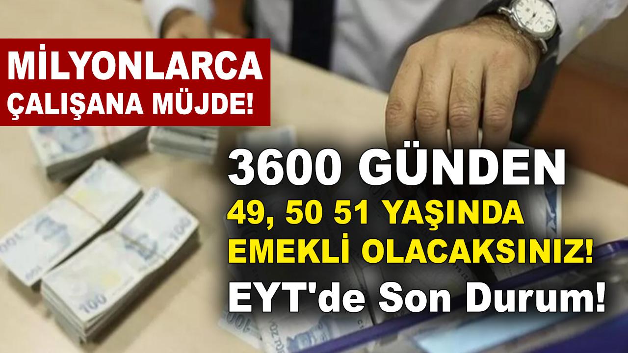 Erken emeklilik artık hayal değil! SSK SGK Bağ-Kur'lular 3600 ve 7200 günden 51 yaşında emekli olacaksınız!