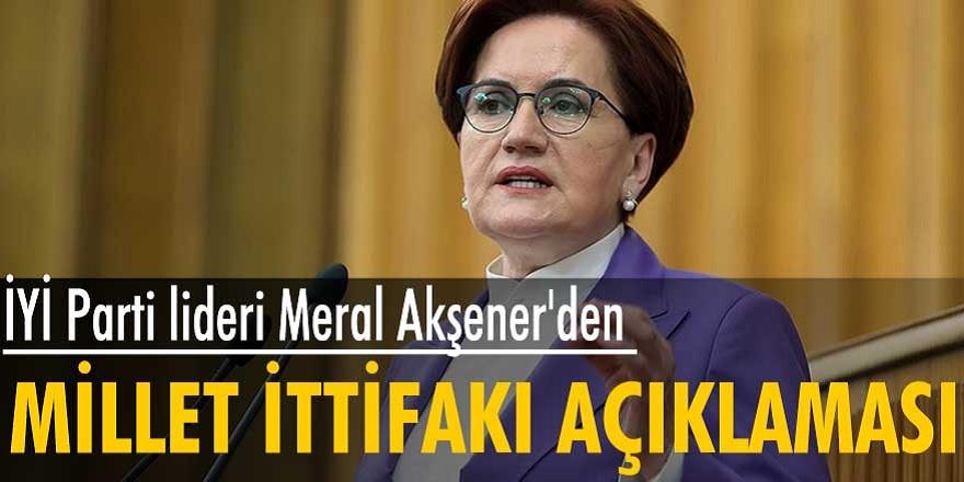 Meral Akşener'den son dakika ittifak açıklaması! Millet İttifakı'nda en küçük bir sorun yok...