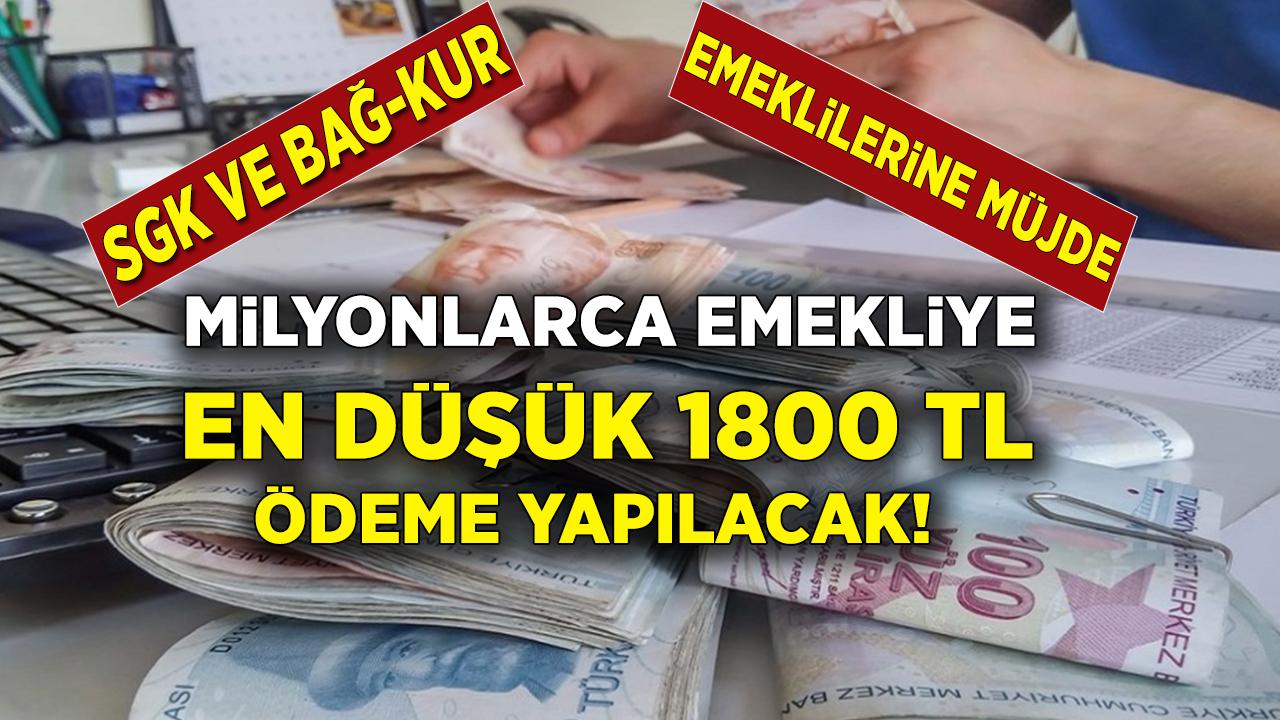 Milyonlarca emeklinin gözü bu haberdeydi! SGK, SSK Bağ-kur emeklilerine 1800 ek ödeme müjdesi sabah saatlerinde açıklandı...