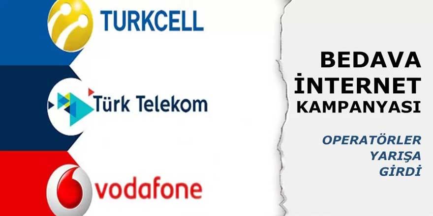 Tüm Operatörler Seferber Oldu! Turkcell, Wodafone ve Türk Telekom'dan 30 GB Kadar Bedava İnternet Paketi Dağıtılmaya Başlandı…