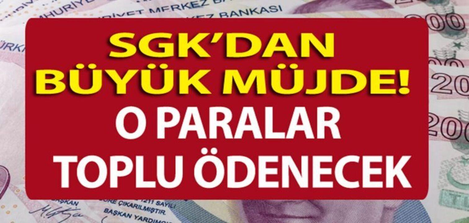 SGK sigorta primleri sebebi ile emekli olamayan vatandaşlara müjdeli haberi verdi! Toplu Para ödemesi yapılacak!