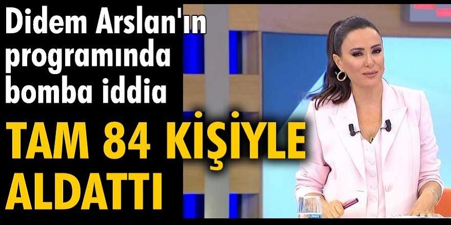 Didem Arslan Yılmaz'ın sunduğu 'Vazgeçme' programında İsmail Şeker eski eşi Burcu Deniz 84 kişiyle aldattığını iddia etti...