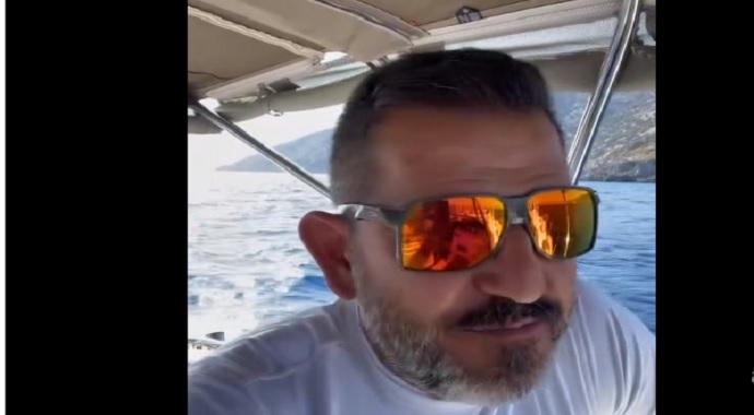 Yunan botları Ünlü Sunucu Fatih Portakal'ı Fena kovaladı