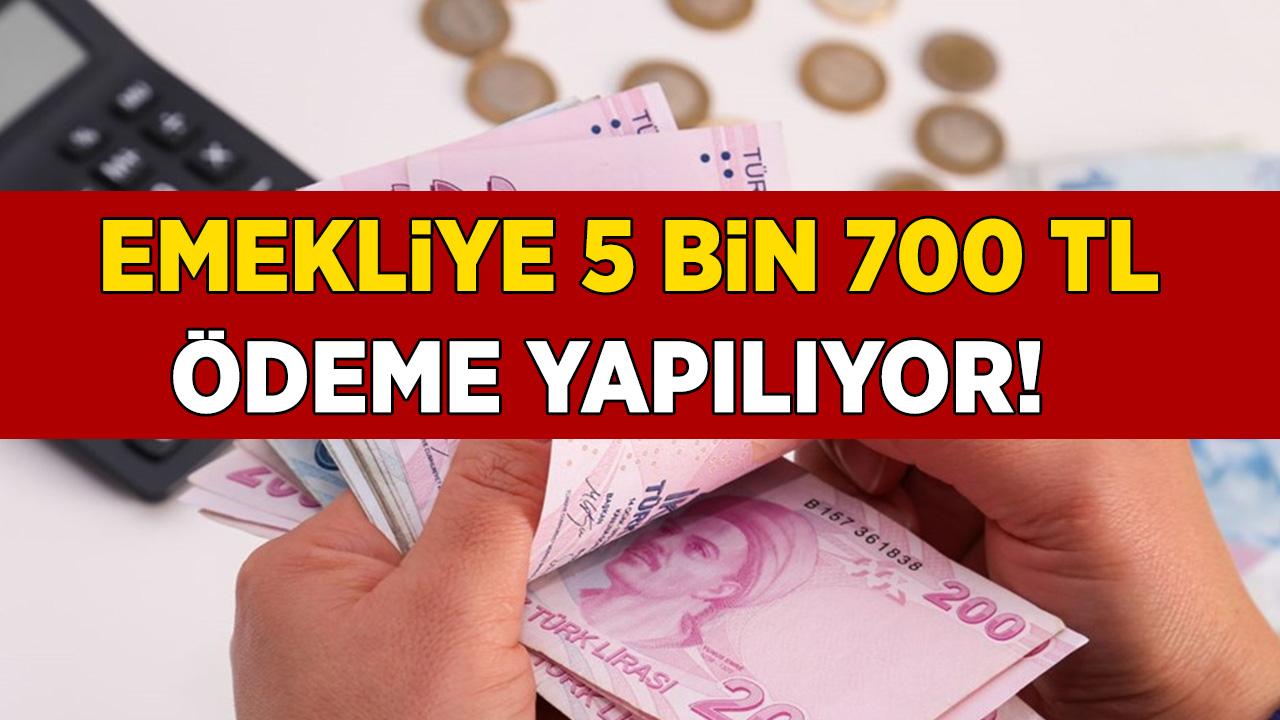 SGK, SSK, Bağ-Kur emeklisine büyük müjde 5 bin 700 lira! Başvurular başladı hemen başvurun...