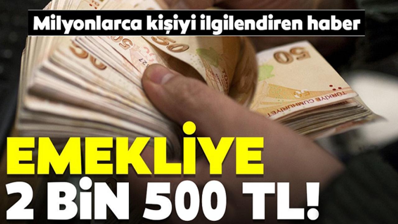 Emeklilere Müjde! 2500 TL'ye Kadar Para Ödemesi Hesaplara Yatırılacak, Başvuru Yapın..