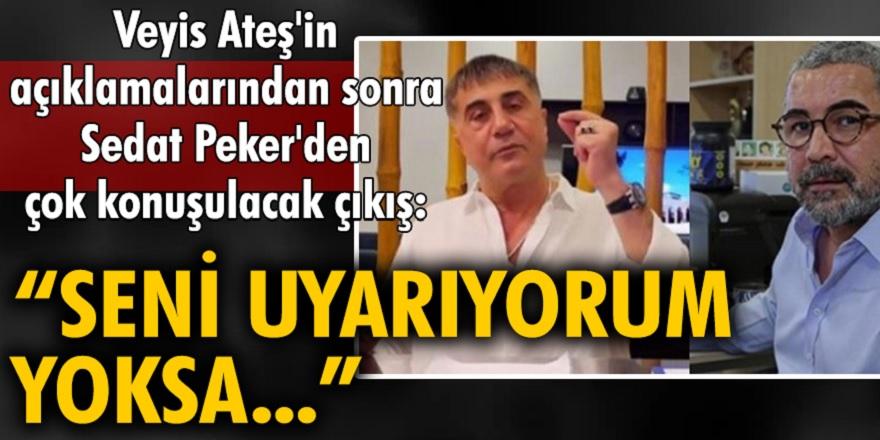 Veyis Ateş aylar sonra açıklama yaptı! Sedat Peker cephesinden dikkat çeken ifadeler geldi