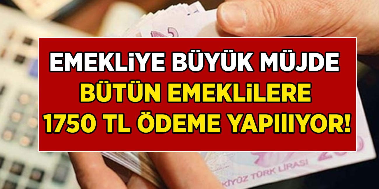 Emekli Sandığı, Bağkur ve SSK fark etmiyor bütün emekliler için son 8 gün kaldı! Başvuran herkese 1750 TL para ödemesi yapılacak!