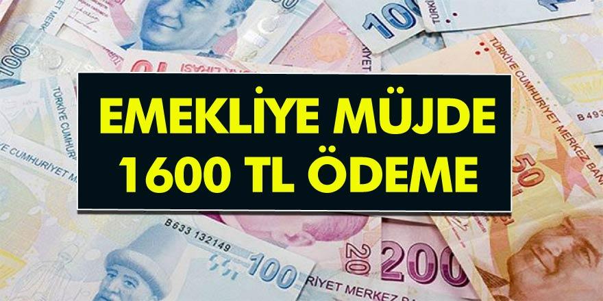 Emekli vatandaşın Yüzünü Güldürecek Müjde! Emeklilere 1600 TL Ödenecek! İşte bütün detaylar…