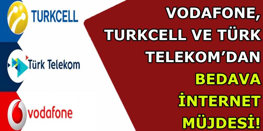 Türk Telekom, Vodafone ve Turkcell hız kesmeden internet dağıtmaya devam ediyor…