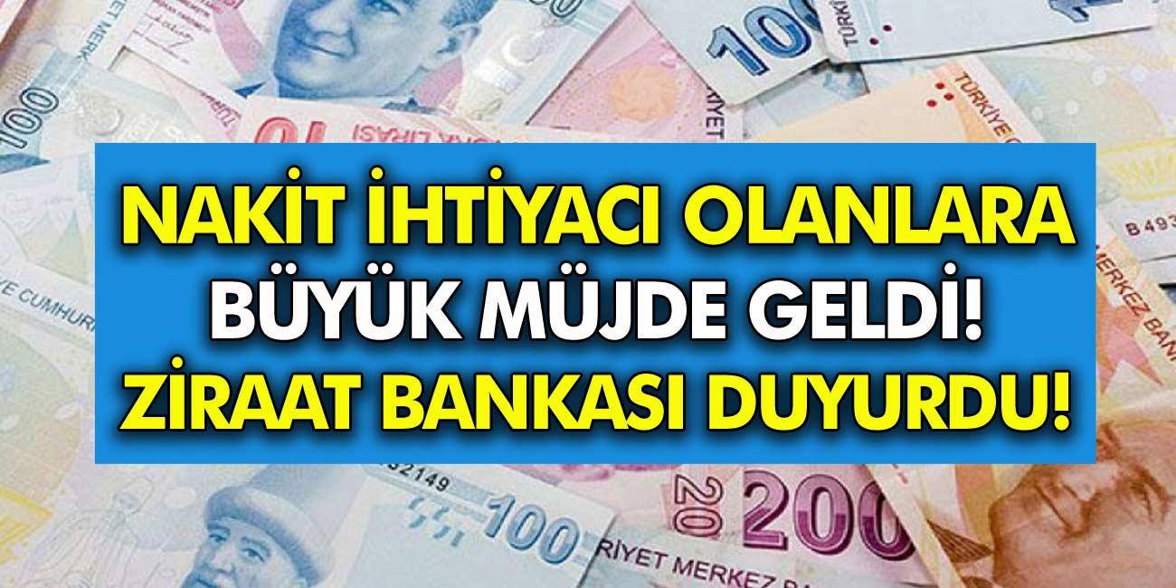Nakit İhtiyacı Olan Vatandaşlar Dikkat! Ziraat Bankası Açıkladı 750 TL Nakit Verecek