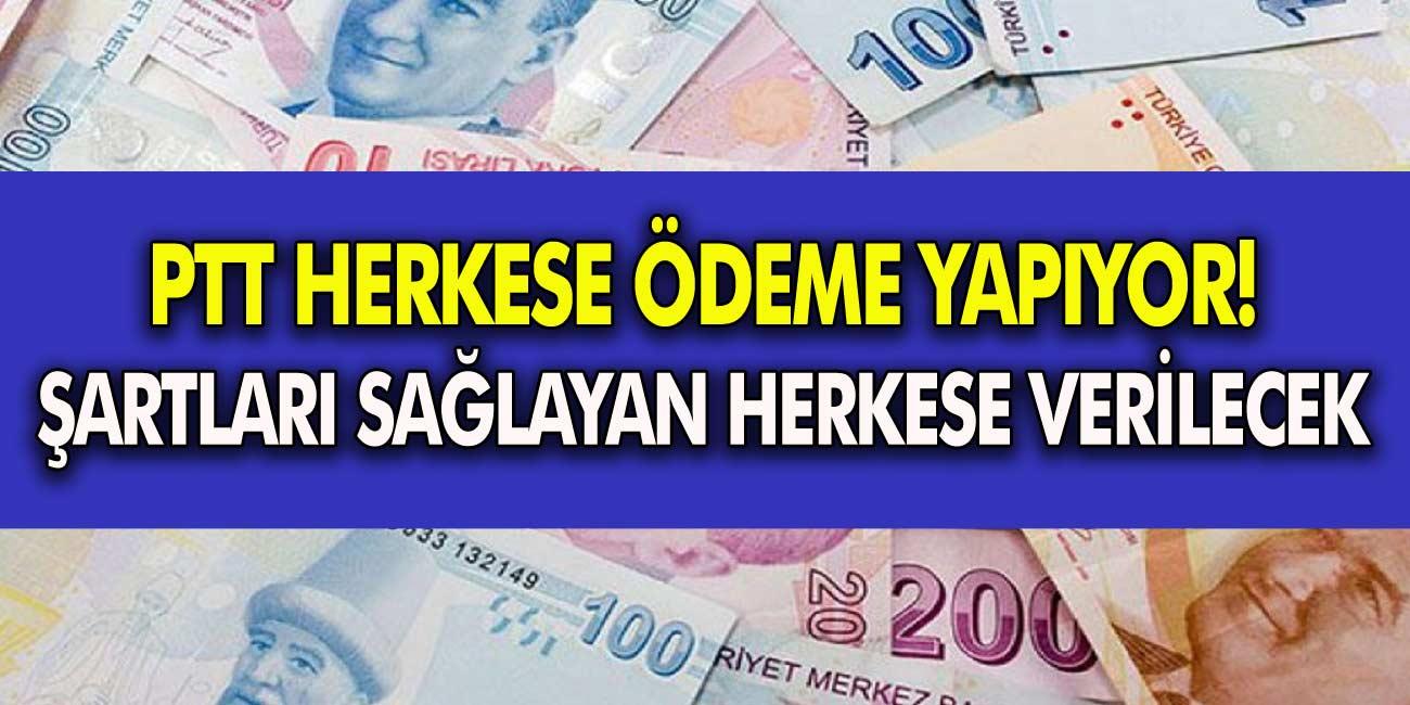 PTT Duyuru Yaptı! Vatandaşlara Nakit Ödeme Verilecek!  Şartları Yerine Getiren Herkese Verilecek…