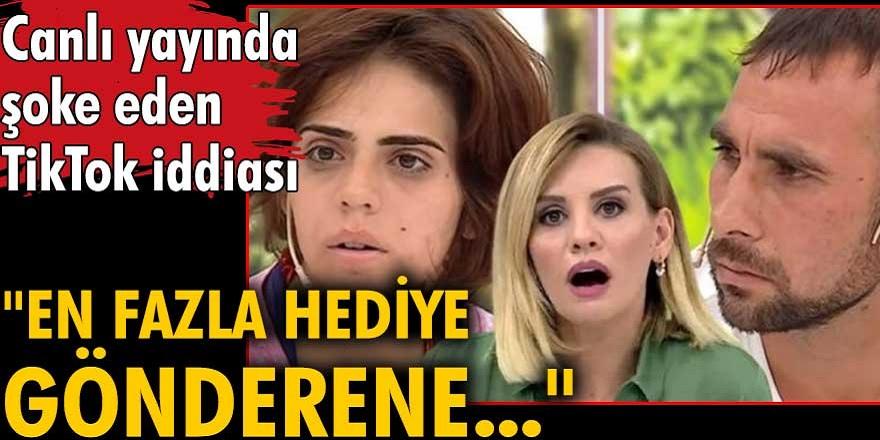 Esra Erol'da gündeme gelen Fatma ile Ahmet olayında şok bir iddia ortaya atıldı! Fatma Kaymaz'ı TikTok canlı yayınında hediye karşılığı...