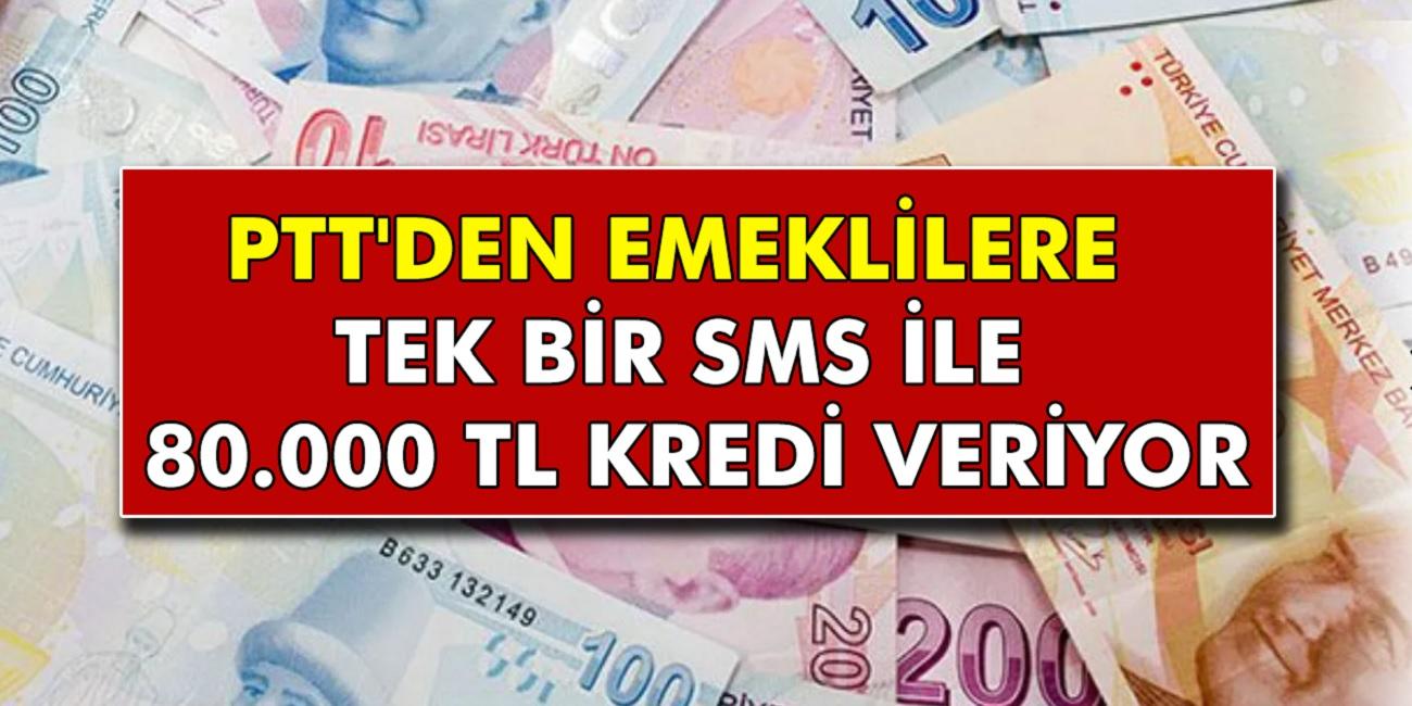 Milyonlarca emekliye bu gece müthiş haber geldi! PTT Tek Bir SMS İle 80.000 TL ödeme yapılacak...