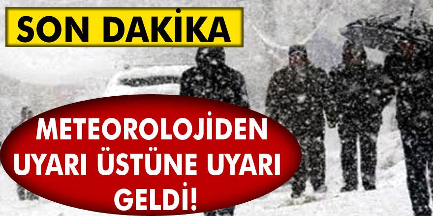 Meteoroloji genel Müdürlüğünden Son Dakika: uyarı üstüne uyarılar geliyor! Kar ve çığ için tarih belli oldu…