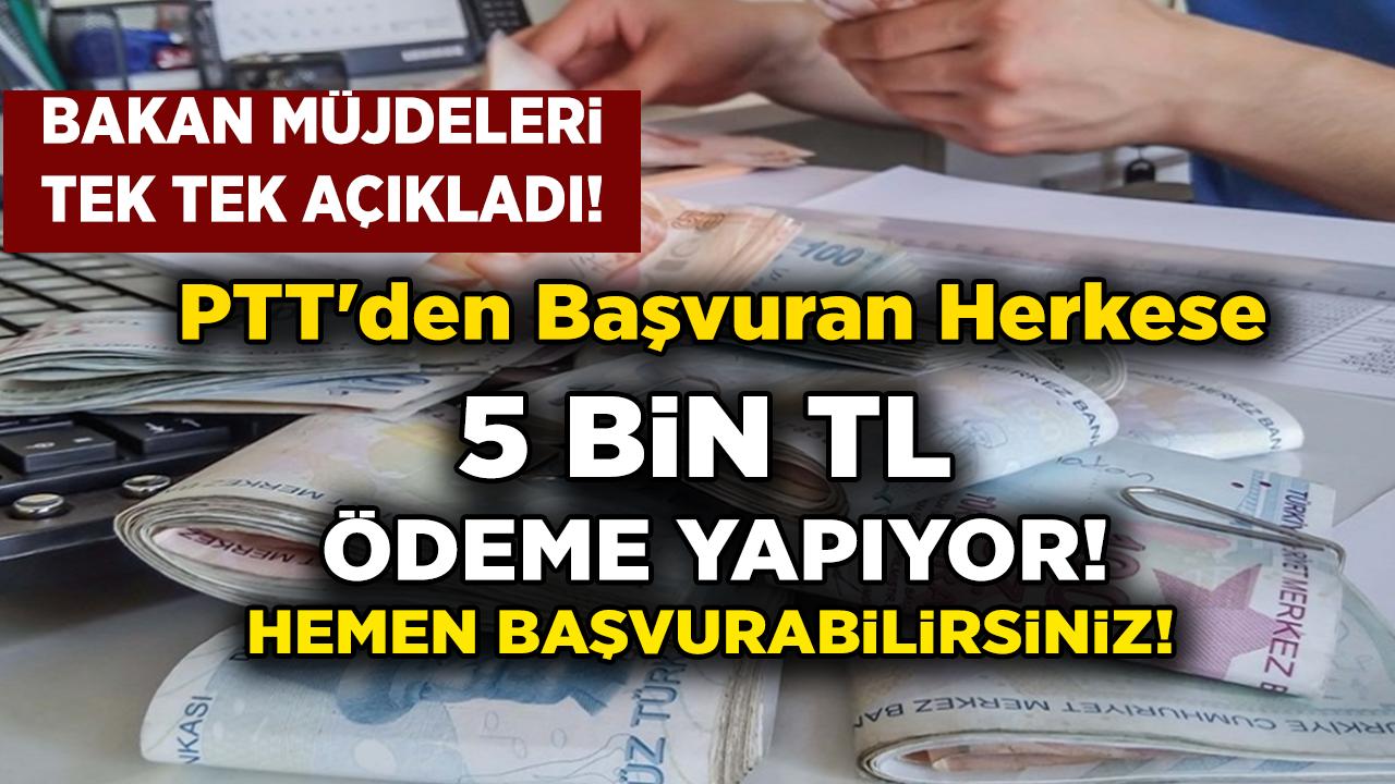 Son Dakika Haberi PTT'ye başvuran Vatandaşlara 5.000 TL ödeme müjdesi geldi! Ayrıntılar Haberimizde...
