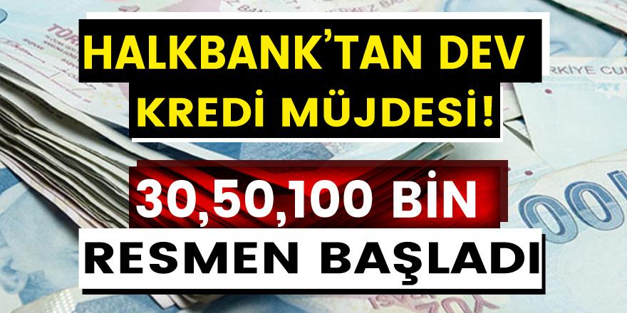 Halkbank'tan müjde! Kontrollü normalleşme sürecinde faizsiz 30, 50 ve 100 bin TL kredi verilecek…