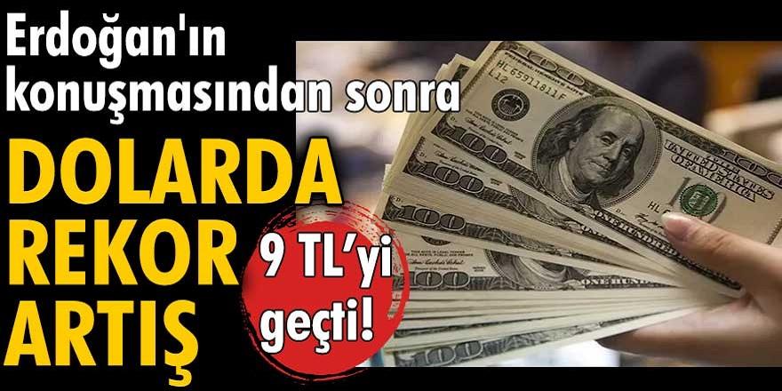 Son dakika Erdoğan konuştu! Dolar tarihi rekora kırdı...