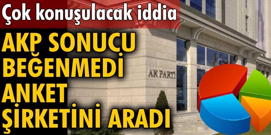 ORC Araştırma Genel Müdürü Mehmet Pösteki'nin iddiasına göre anket sonuçlarını beğenmeyen Ak Parti şirketi arayıp tepki gösterdi...