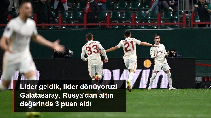 Aslanlar Avrupa'da tur kapısını araladı! Lider geldik lider dönüyoruz Galatasaray, Rusya deplasmanında Lokomotiv Moskova'yı 1-0 mağlup etti
