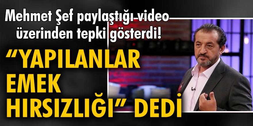 Masterchef Türkiye'in jüri üyesi Mehmet Yalçınkaya Instagram hesabından paylaştığı video ile emek hırsızlığı sert tepki gösterdi!