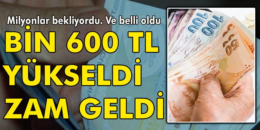 Milyonlarca Emekliye müjde! 1.600 TL'ye yükseldi
