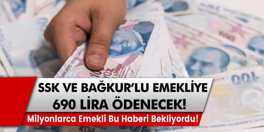 Bütün emekliler bu haberi bekliyordu! Ek Ödeme İmkanı Geliyor! Bağkur ve SSK'lı emekliye 690 lira ödenecek!