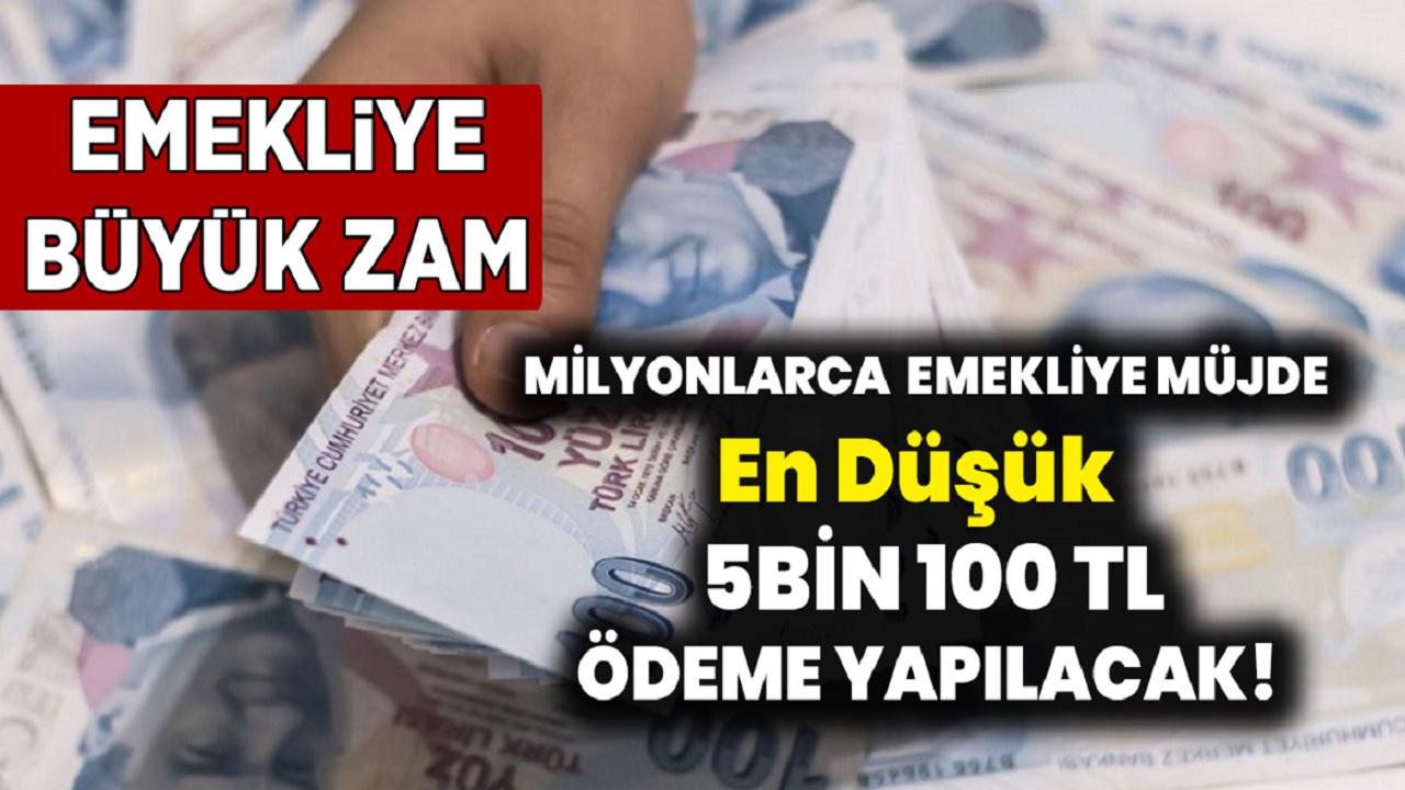 SGK'dan emekliye en az 5 Bin 100 TL nakit ödeme yapılacak!