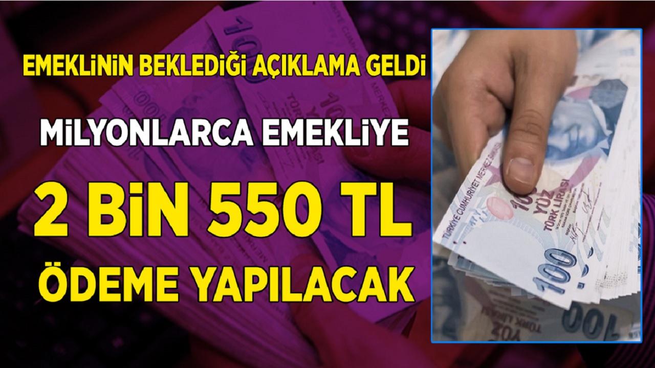 Başvuran Emekliye 2 Bin 550 TL Ödeme Yapılacak! Bankalar Yarışa Girdi Emeklinin Yüzü Güldü...