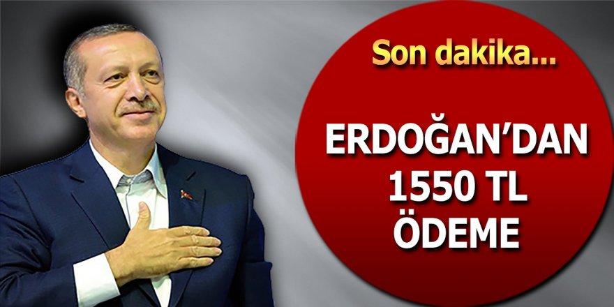 Cumhurbaşkanı Recep Tayyip Erdoğan Açıkladı! Herkese Her Ay 1550 TL Ödenecek. Başvurular Başladı!