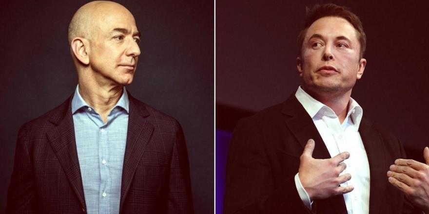 Tesla ve SpaceX'in CEO'su Elon Musk, milyarder rakibi Jeff Bezos ile alay etti...