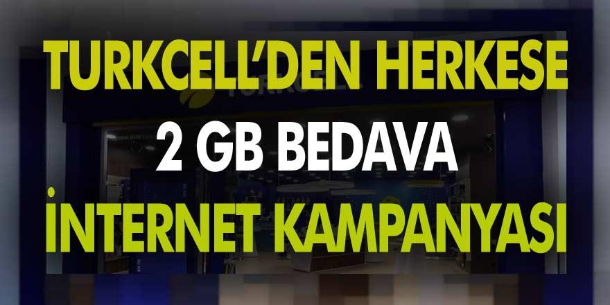 Turkcell'den pandemi kampanyası geldi! Evde kalan herkese anında 10 GB bedava internet verilecek…