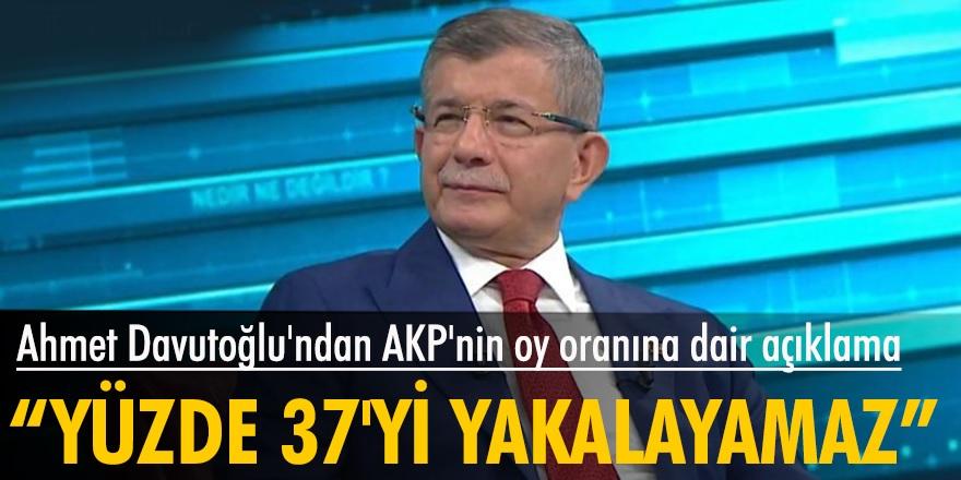 Ahmet Davutoğlu'ndan AK Parti'nin seçimlerde maksimum alacağı oy oranını açıkladı...