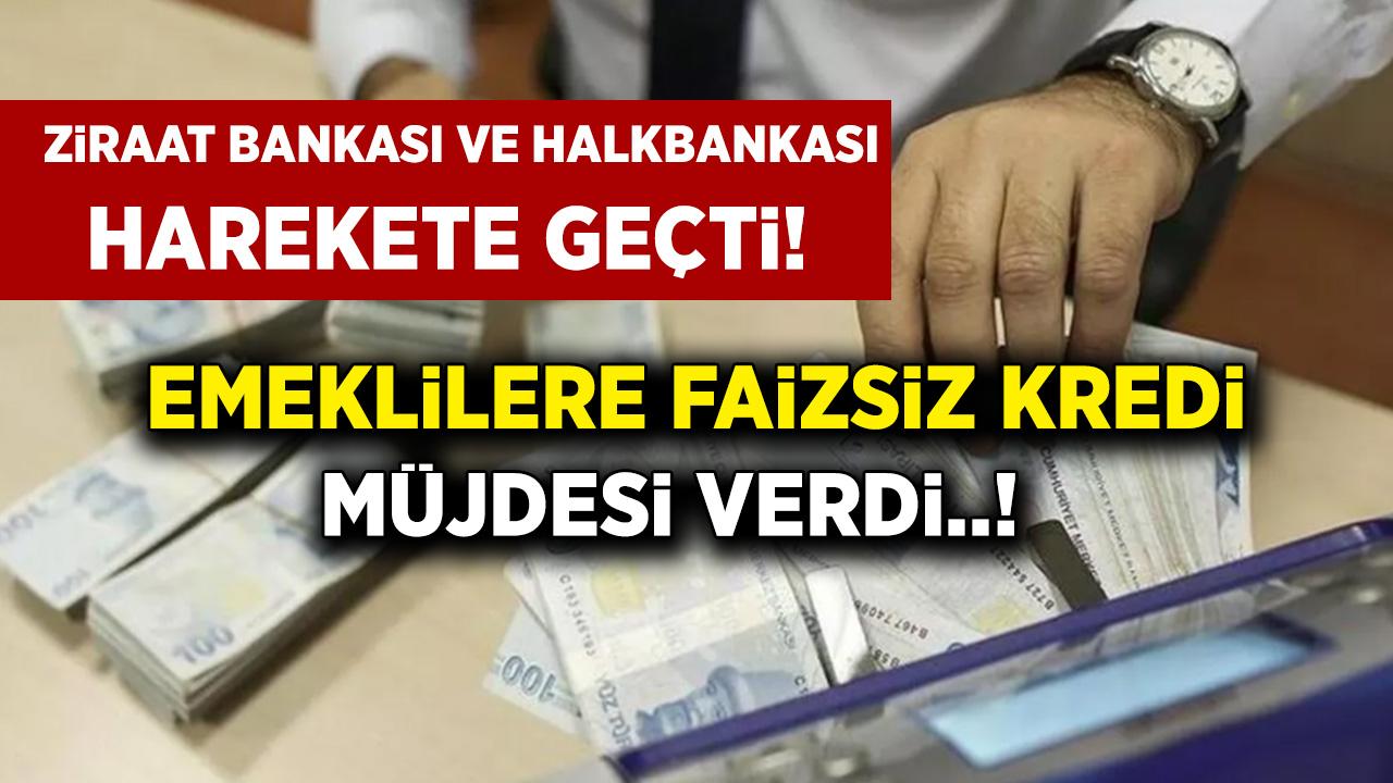 Ziraat Bankası ile Halkbankası emeklinin cebini dolduracak! SGK-SSK ve Bağ-kur emeklilerine faizsiz ihtiyaç kredisi...
